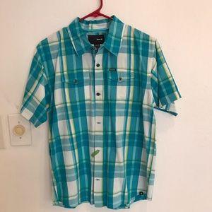 Hurley men's short sleeve shirt size X large plaid